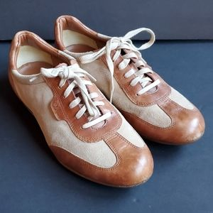 Cole Haan Nike Air Tan Brown Lace Up Oxfords 9